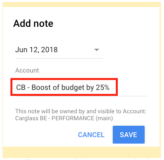 NotesAnnotations in AdWords 3