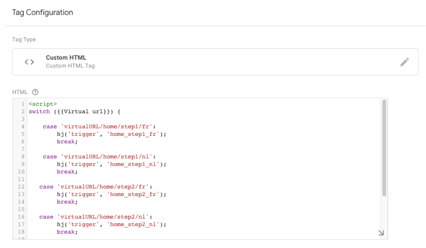 Use conditions in your tag to get a compact implementation 4