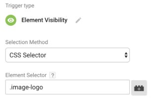 element visibility trigger in gtm 4