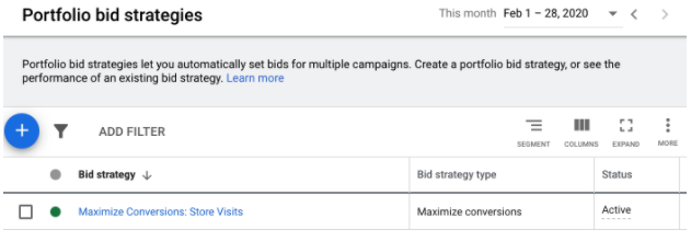 portfolio bid strategy as solution to maximize store visits in google ads